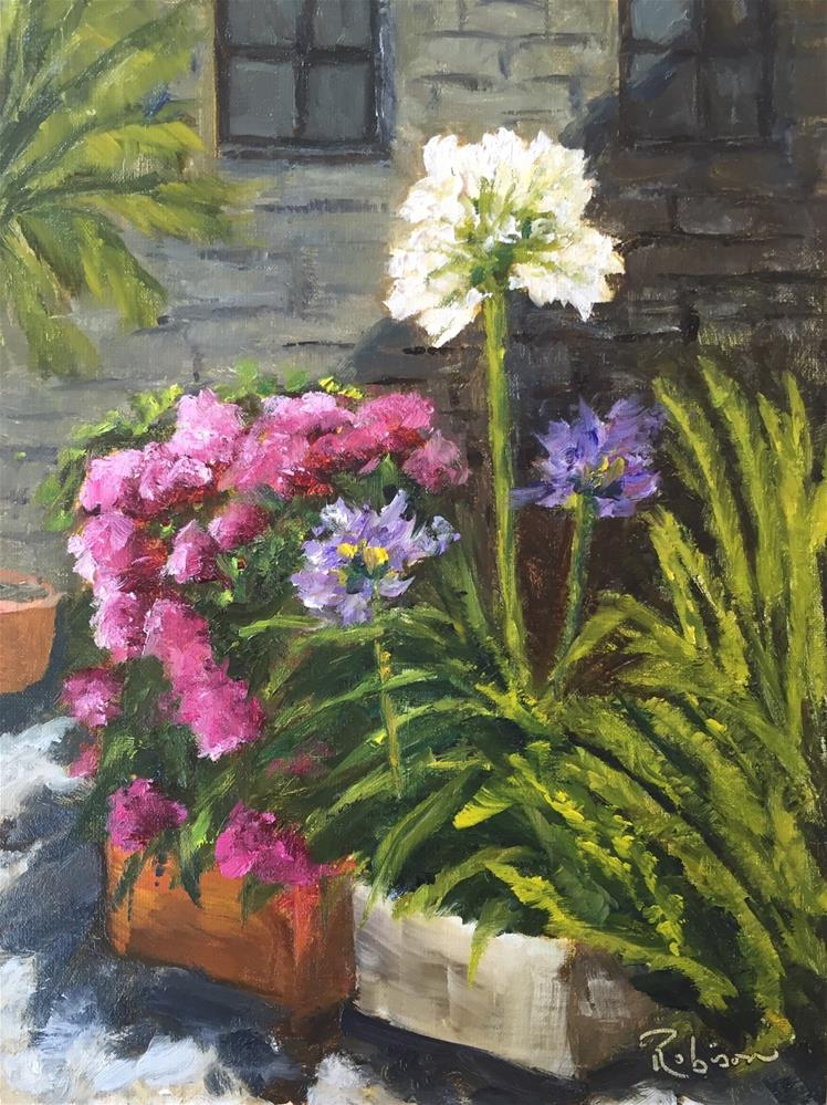 """Towering Agapanthus"" original fine art by Renee Robison"