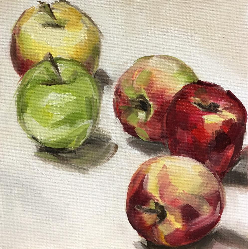 """Variety - Apple Study"" original fine art by Tamanda Elia"