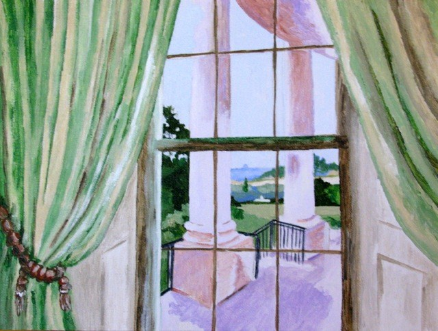 """""""White House View"""" original fine art by Nan Johnson"""