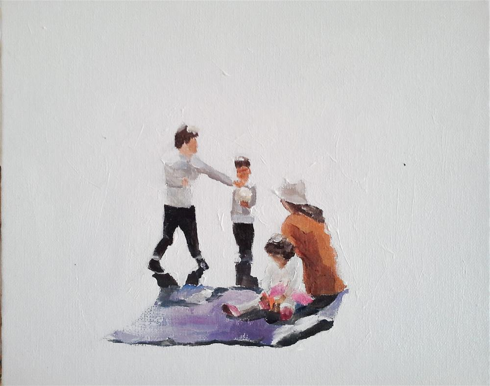 """Family Picnic"" original fine art by James Coates"