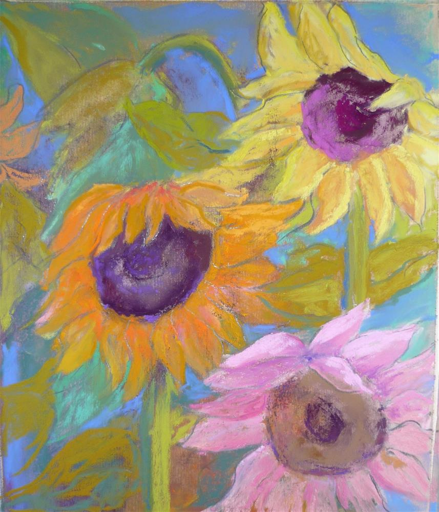 """""""Fall Gals"""" original fine art by Sandi Miller"""