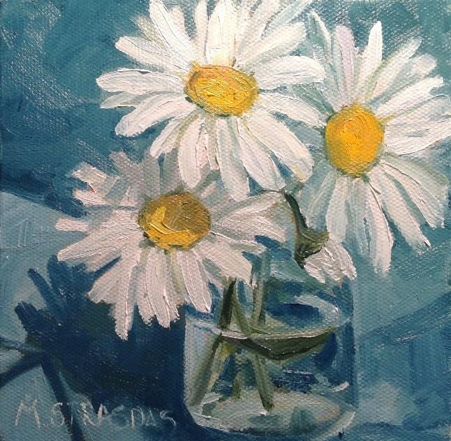 """Daisy Days"" original fine art by Marcela Strasdas"