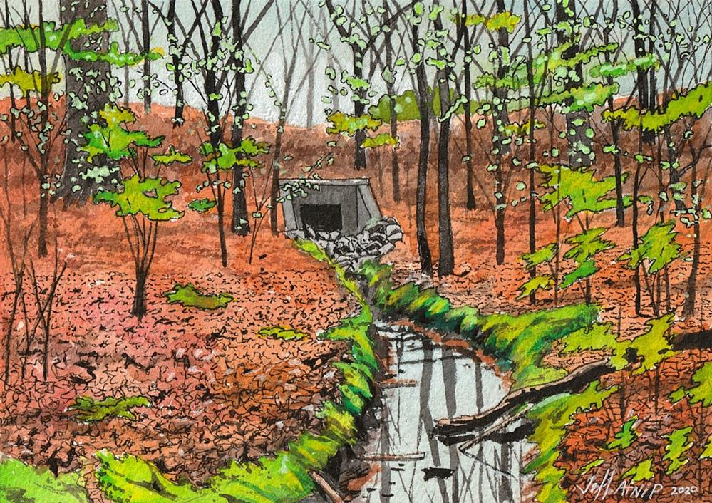"""The Culvert"" original fine art by Jeff Atnip"