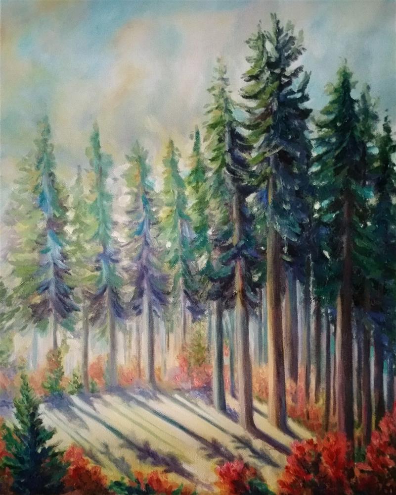 """""""In the Clearing"""" original fine art by Dana C"""