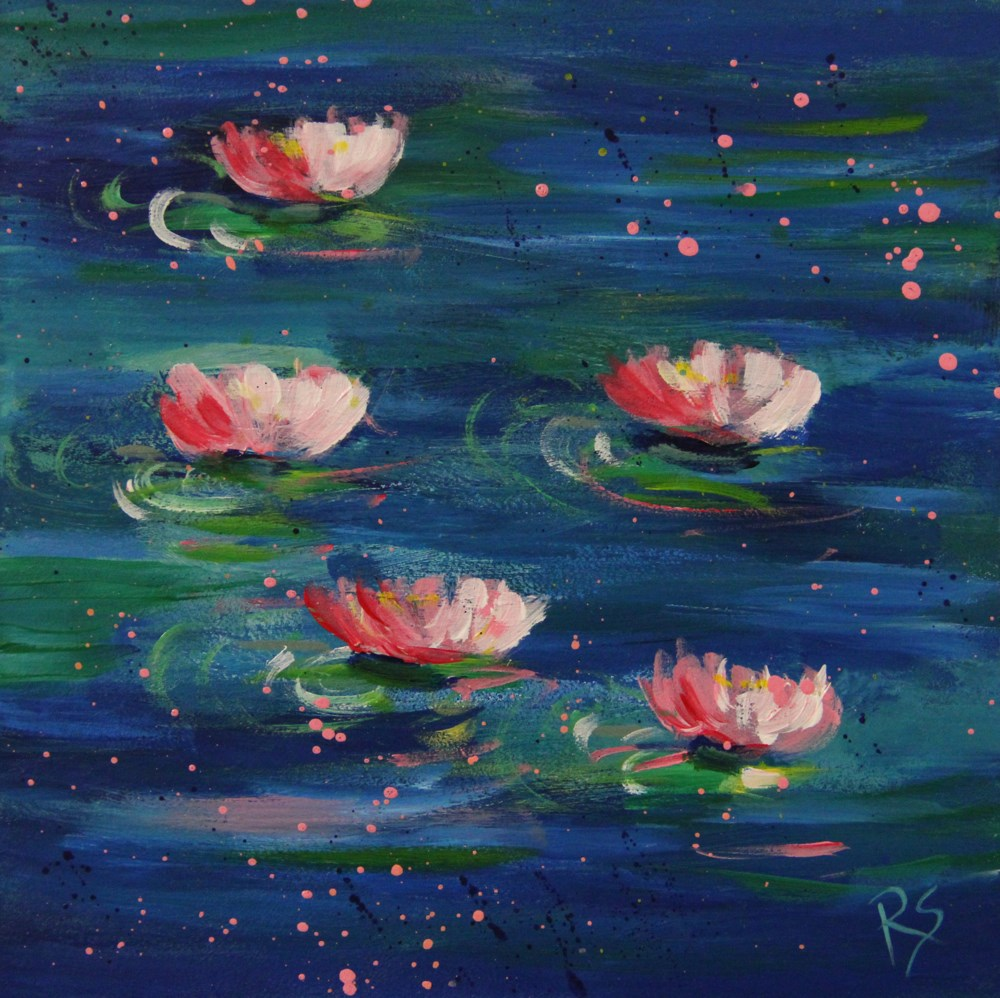 """Ladies of the Lake"" original fine art by Roberta Schmidt ArtcyLucy"