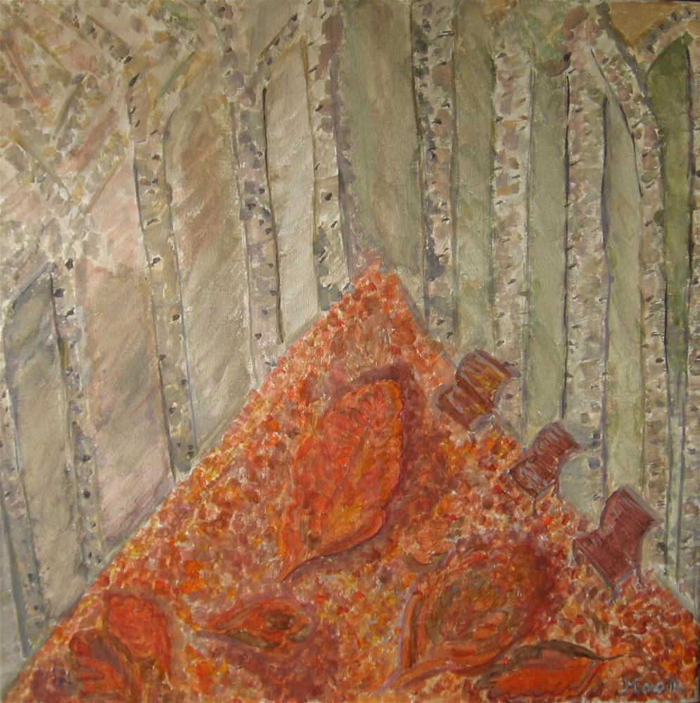 """Falling Leaves"" original fine art by Alina Frent"