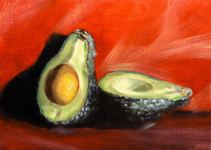 """Avocado 5x7 With Video"" original fine art by Dalan Wells"