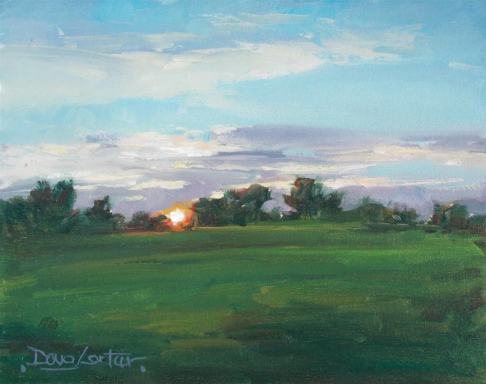 """""""Sunset Glow"""" original fine art by Doug Carter"""