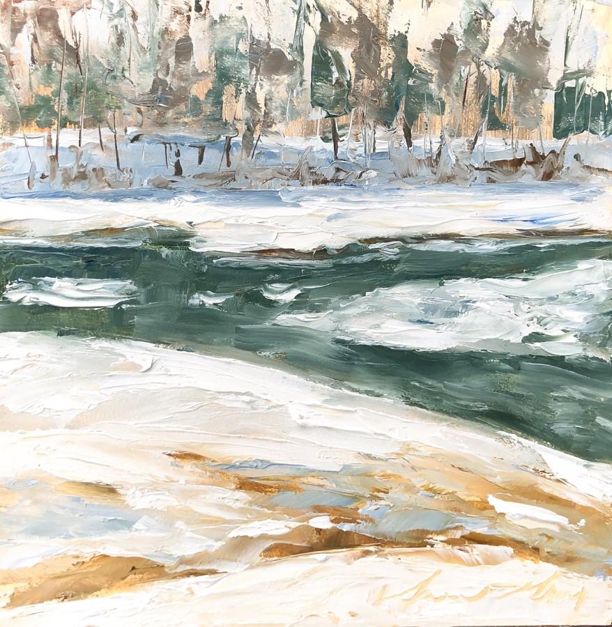 """#203 - Outgoing Tide - Little River - Freeport, ME"" original fine art by Sara Gray"