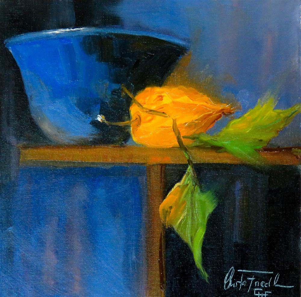 """""""Still life Physalis"""" original fine art by Christa Friedl"""