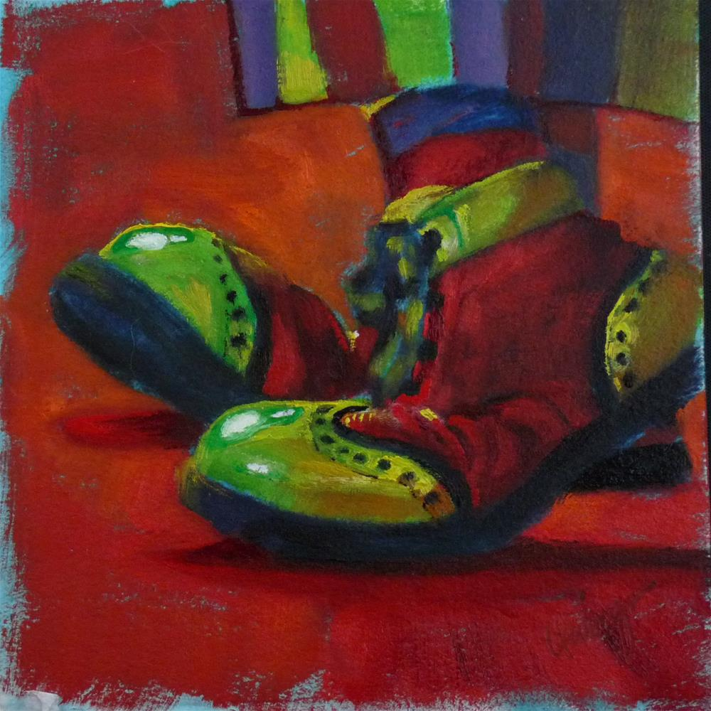 """""""Steppin' Out"""" original fine art by Sharman Owings"""