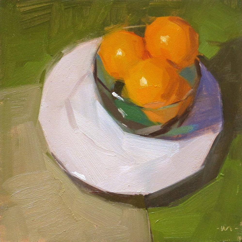 """Orange You Gonna Ask?"" original fine art by Carol Marine"