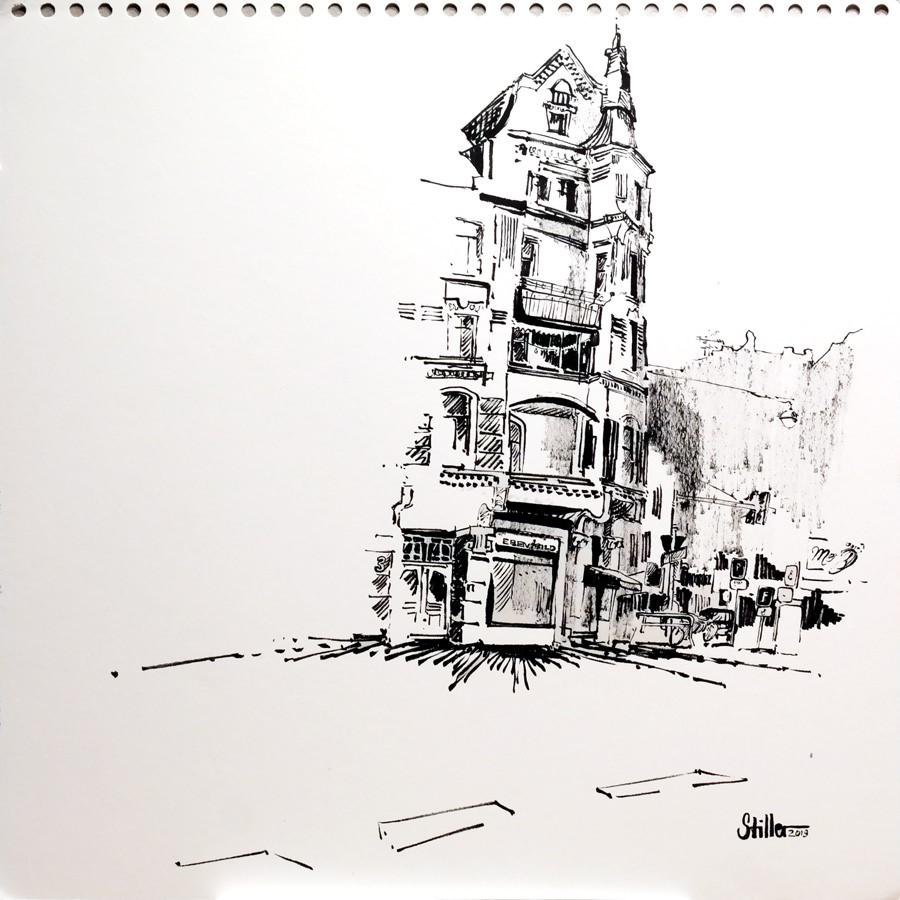 """""""2936 Lister Platz"""" original fine art by Dietmar Stiller"""