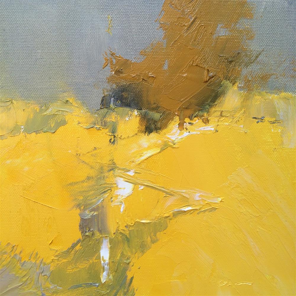 """""""The Golden field"""" original fine art by Anny Kong"""