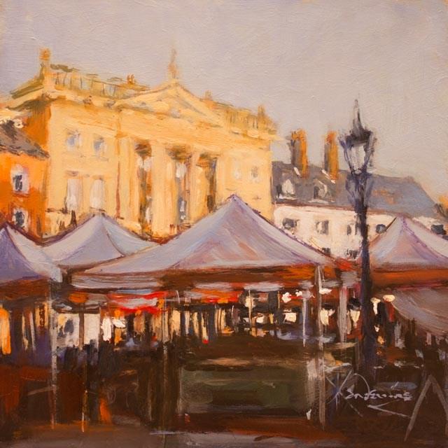 """""""Newark Market"""" original fine art by Ken Devine"""