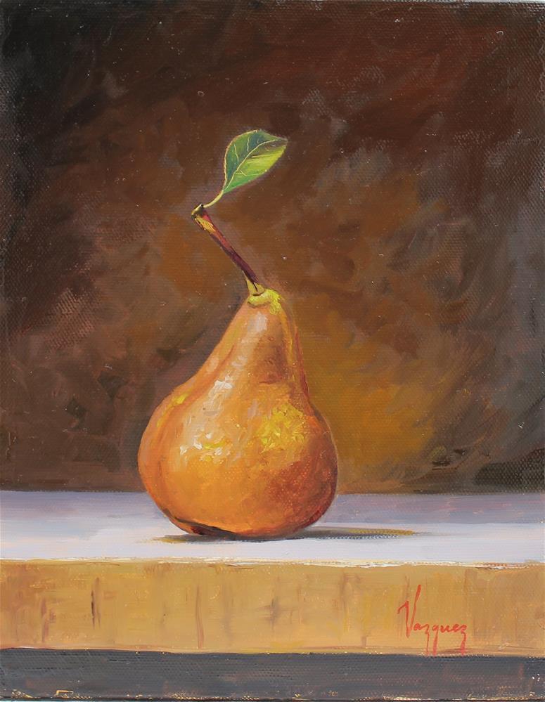 """Pear"" original fine art by Marco Vazquez"