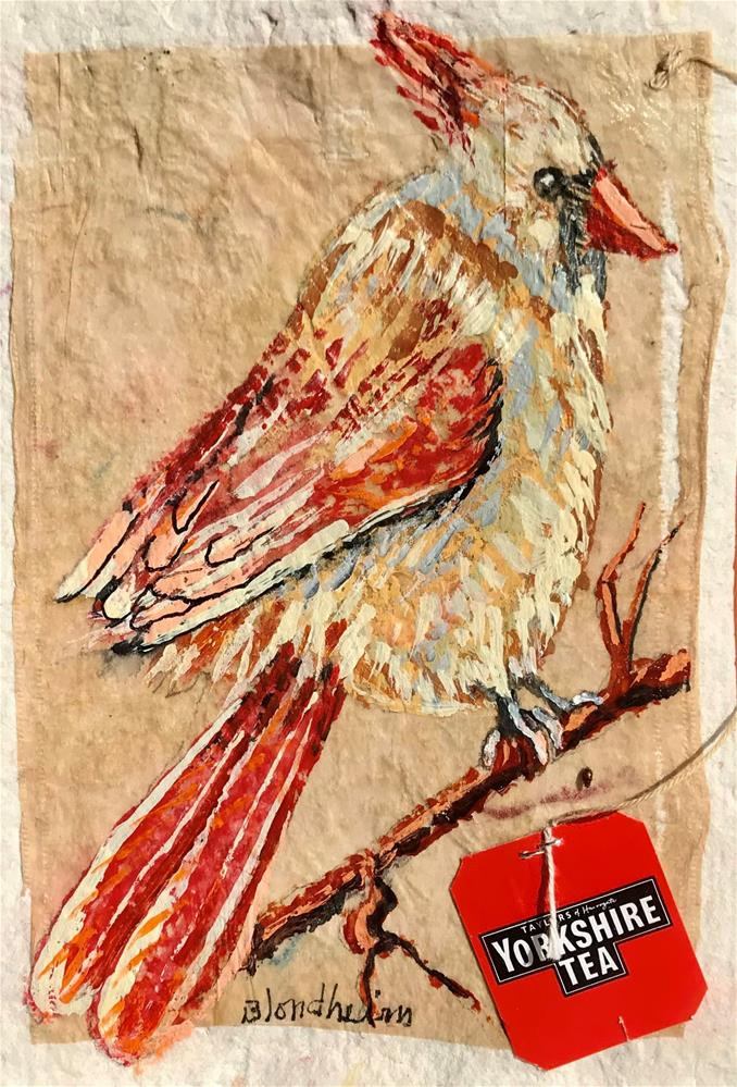 """Lady Cardinal"" original fine art by Linda Blondheim"