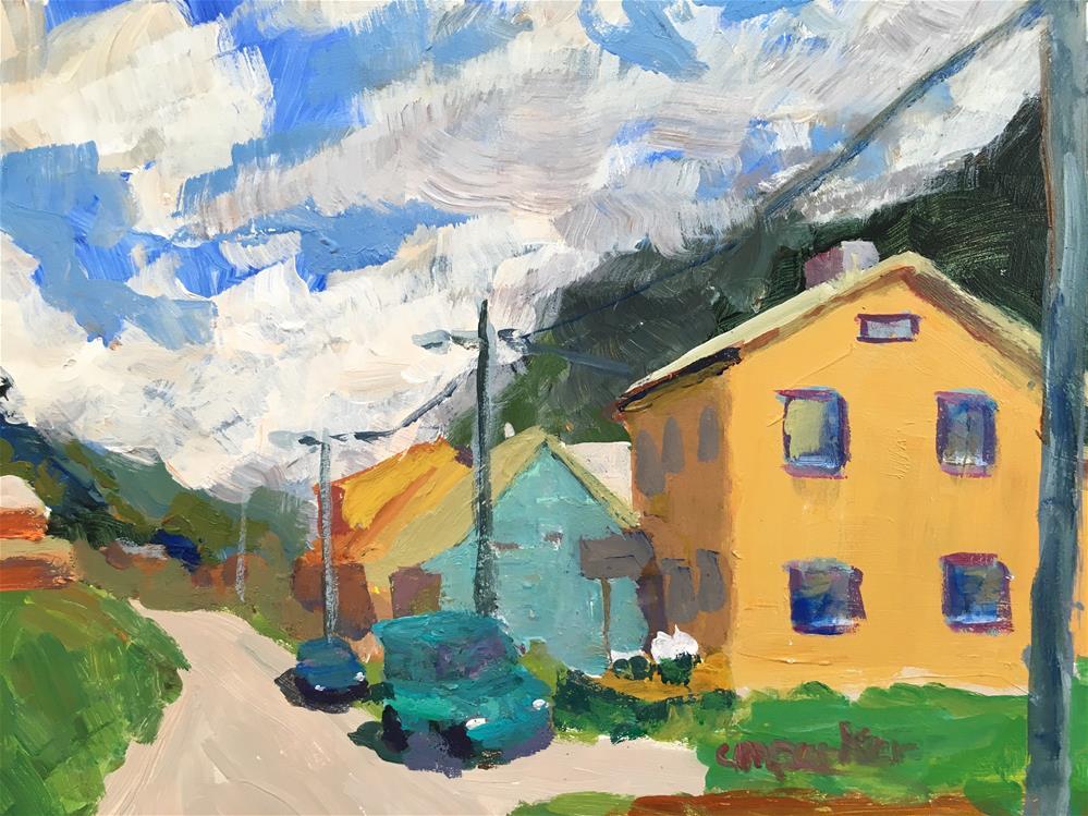 """Norway landscape"" original fine art by Christine Parker"
