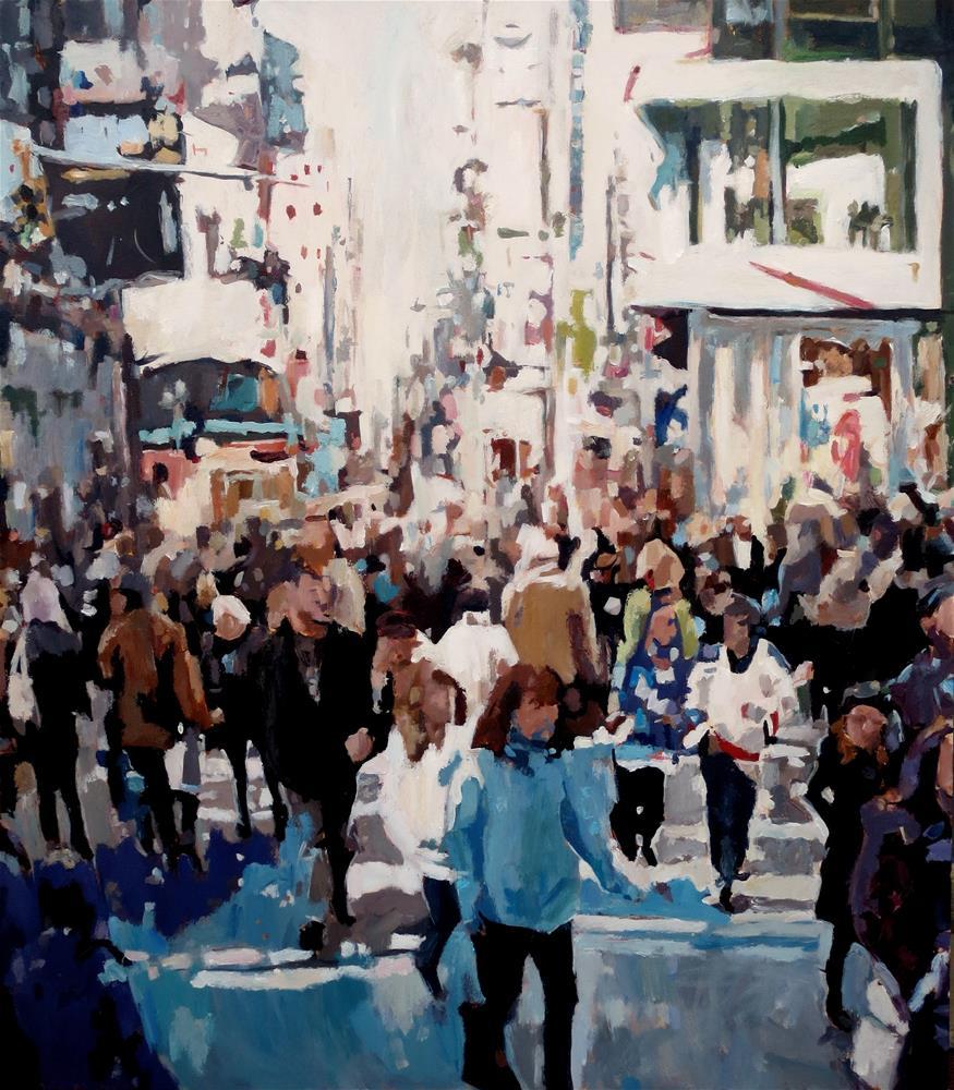 """""""Rush Hour in NYC"""" original fine art by Nava Judith"""