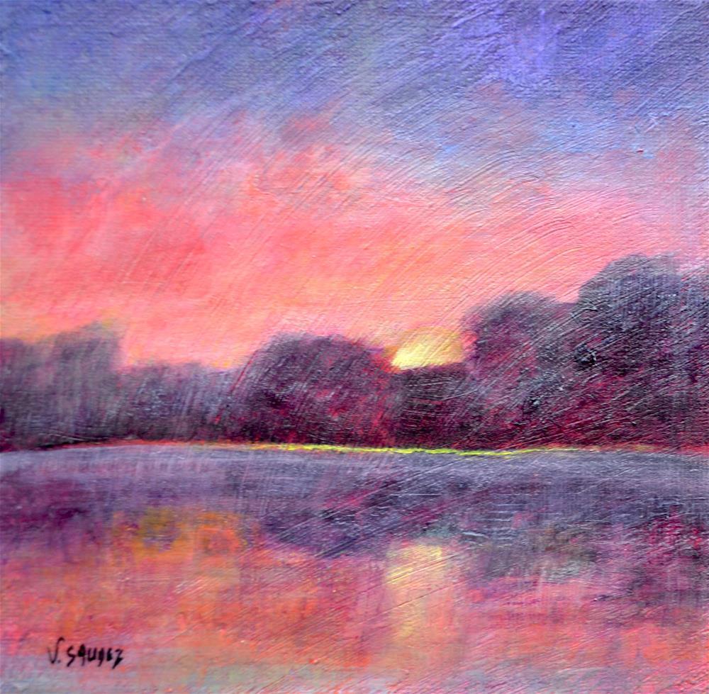 """Radiant morning"" original fine art by Véronique Saudez"