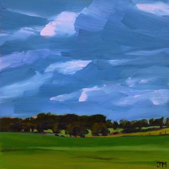 """Summer Storm Clouds"" original fine art by Jessica Miller"