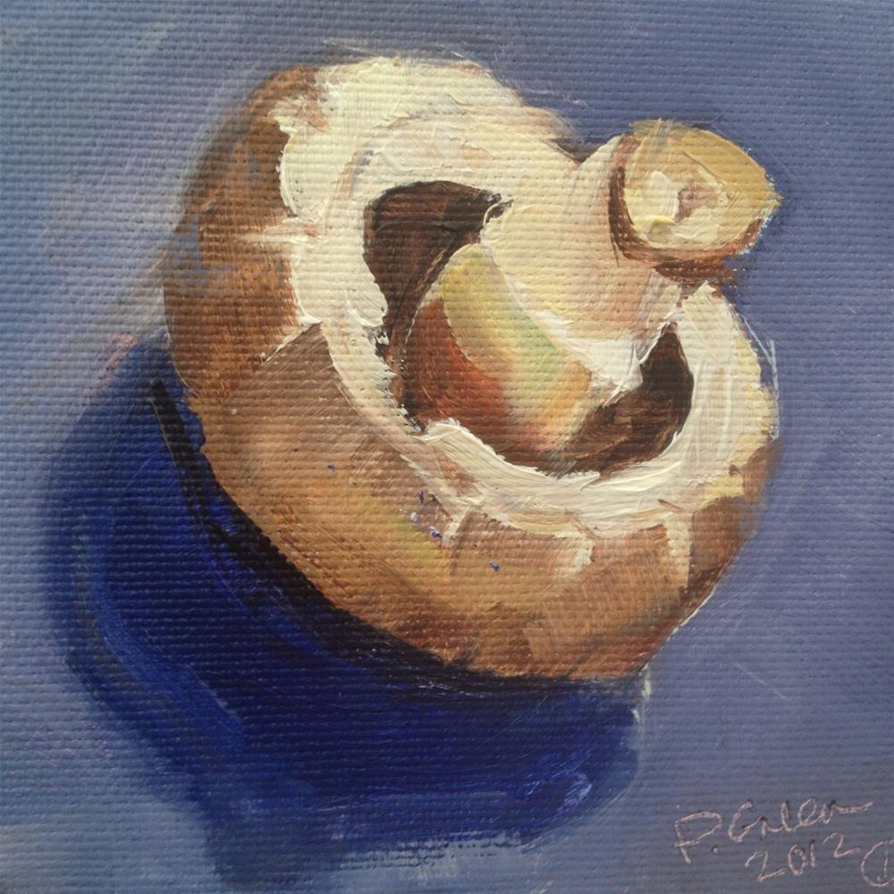 """Portrait Of A Mushroom"" original fine art by Paula Howson-Green"