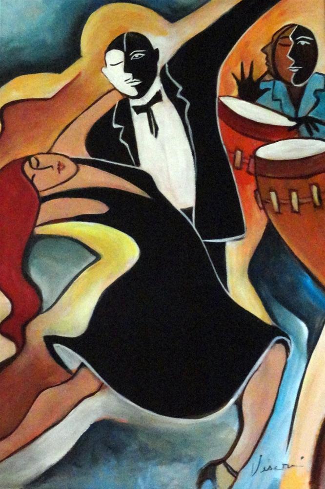"""Tango"" original fine art by Valerie Vescovi"