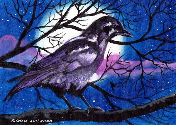 """""""Midnight Raven"""" original fine art by Patricia Ann Rizzo"""
