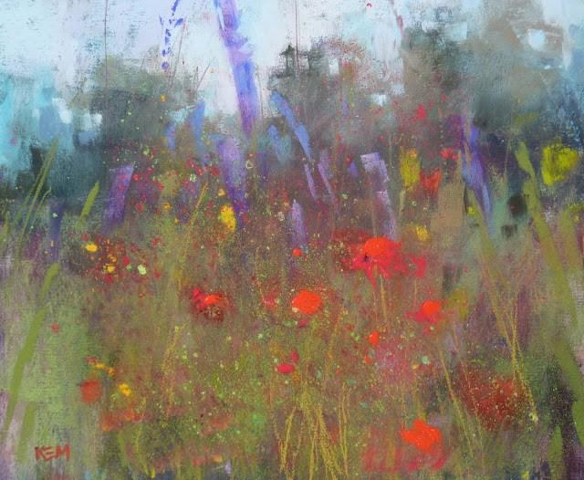 """Keeping Safe with Pastels"" original fine art by Karen Margulis"