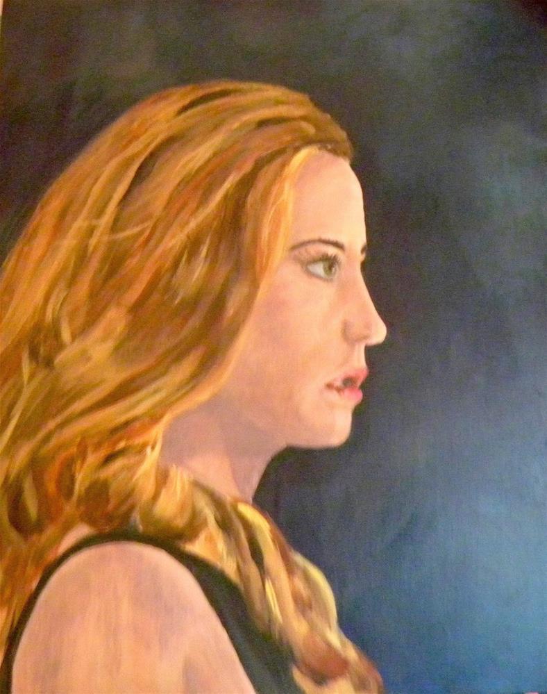 """Woman in Profile"" original fine art by cheryl buhrman"