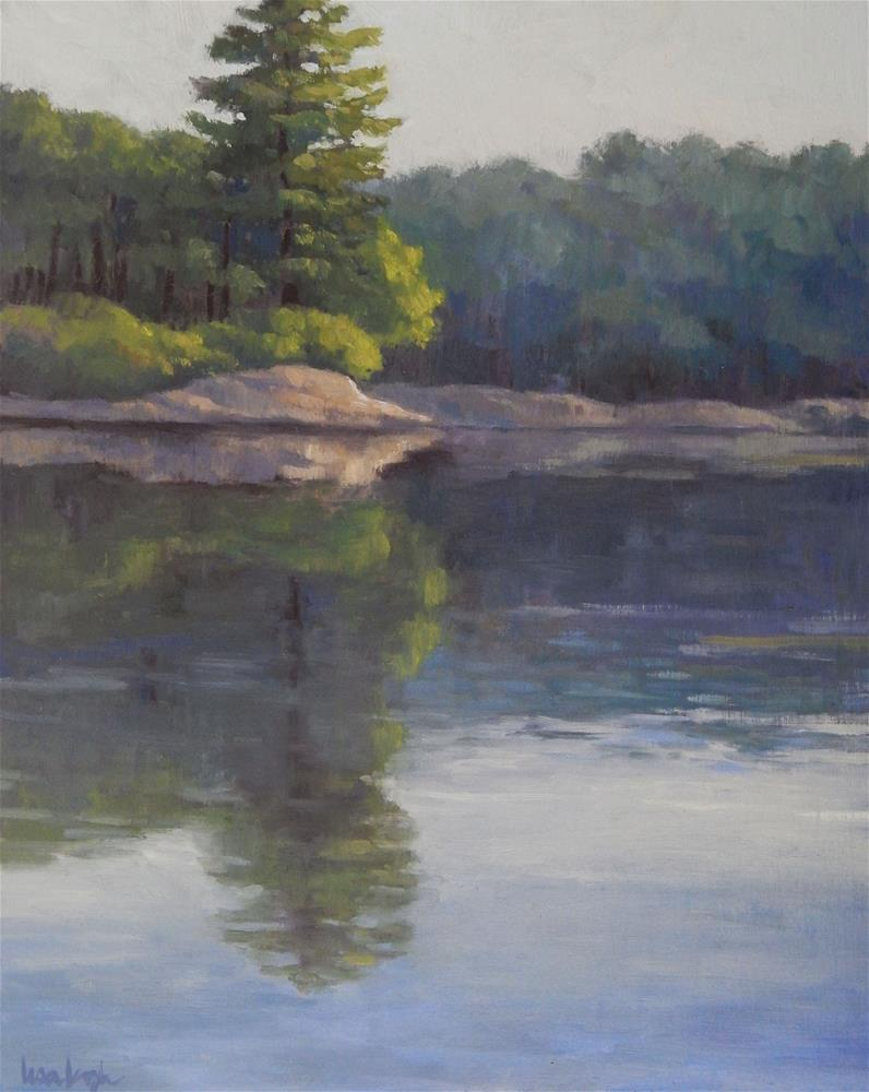 """At the Water's Edge"" original fine art by Lisa Kyle"