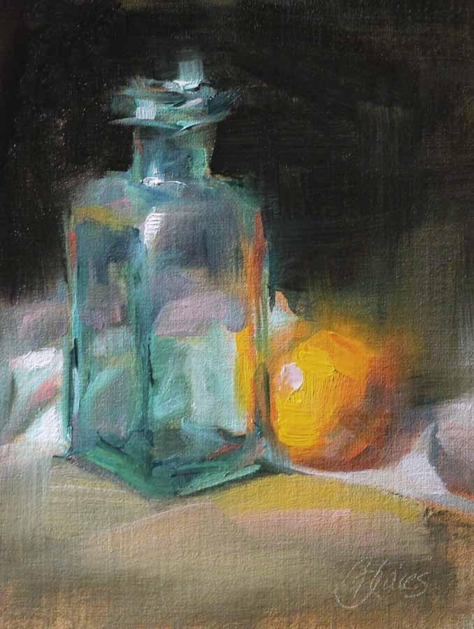 """""""Complementary Reflection"""" original fine art by Pamela Blaies"""
