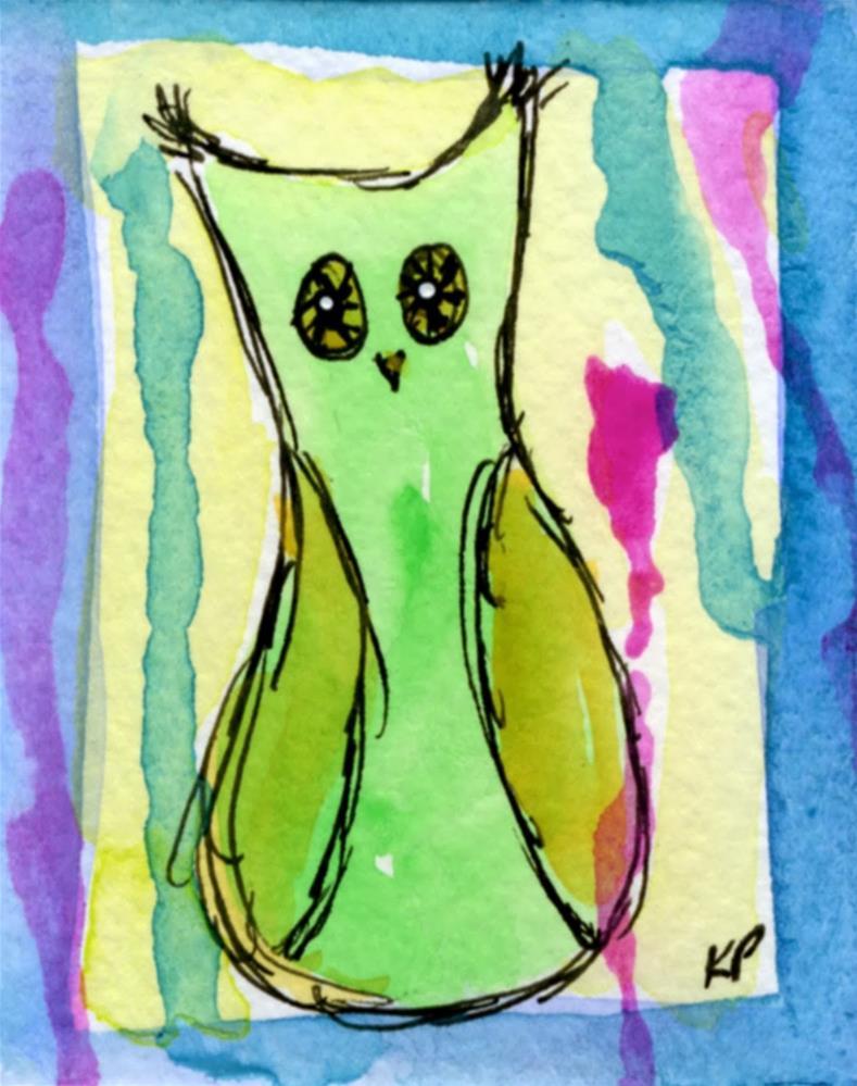 """Hoo Me?"" original fine art by Kali Parsons"