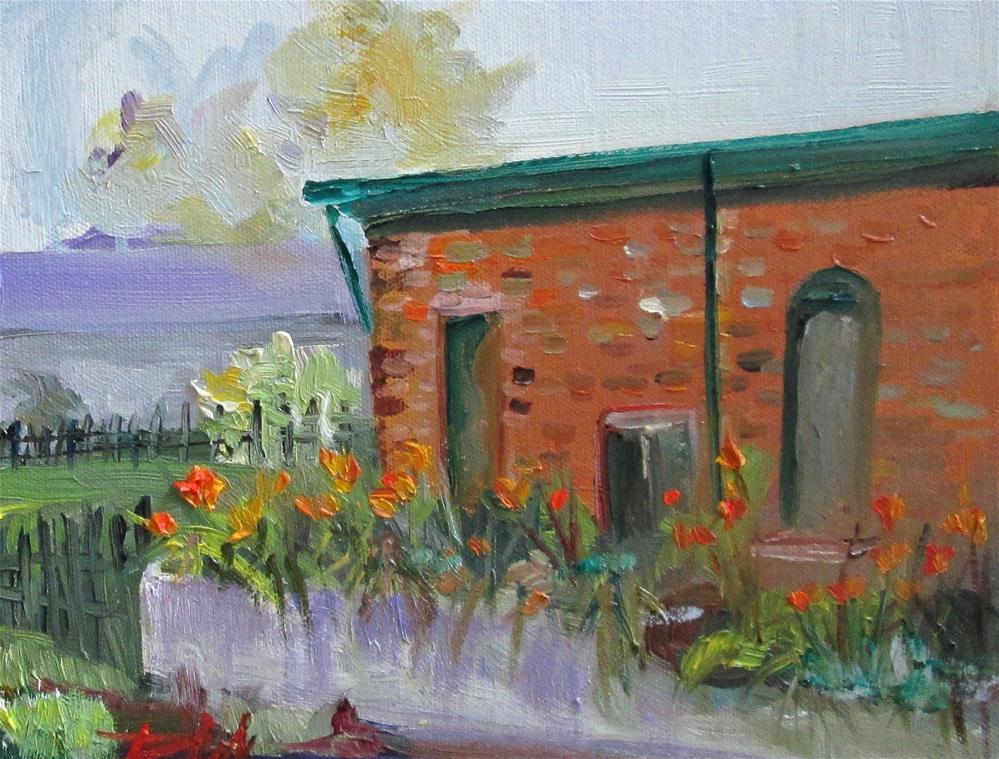 """Brick Building"" original fine art by Delilah Smith"