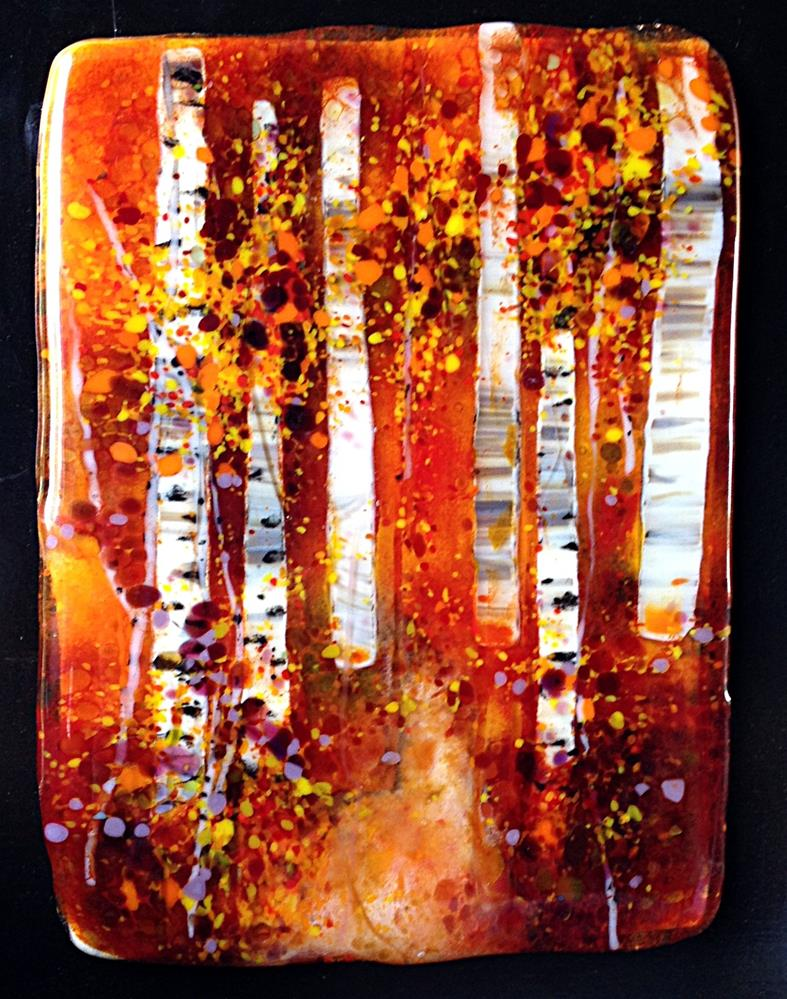 """Hot Birches"" original fine art by Kristen Dukat"