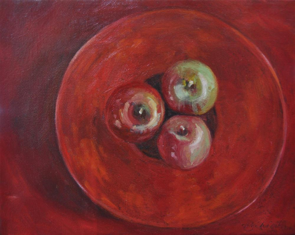 """Red on Red 8 x 10  oil on canvas"" original fine art by Tahirih Goffic"