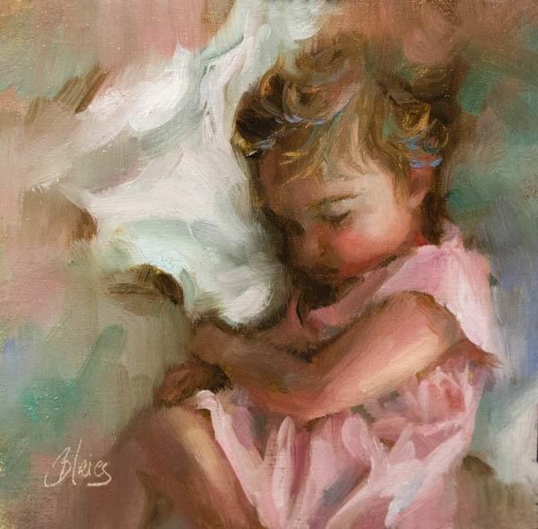 """Precious in Pink"" original fine art by Pamela Blaies"