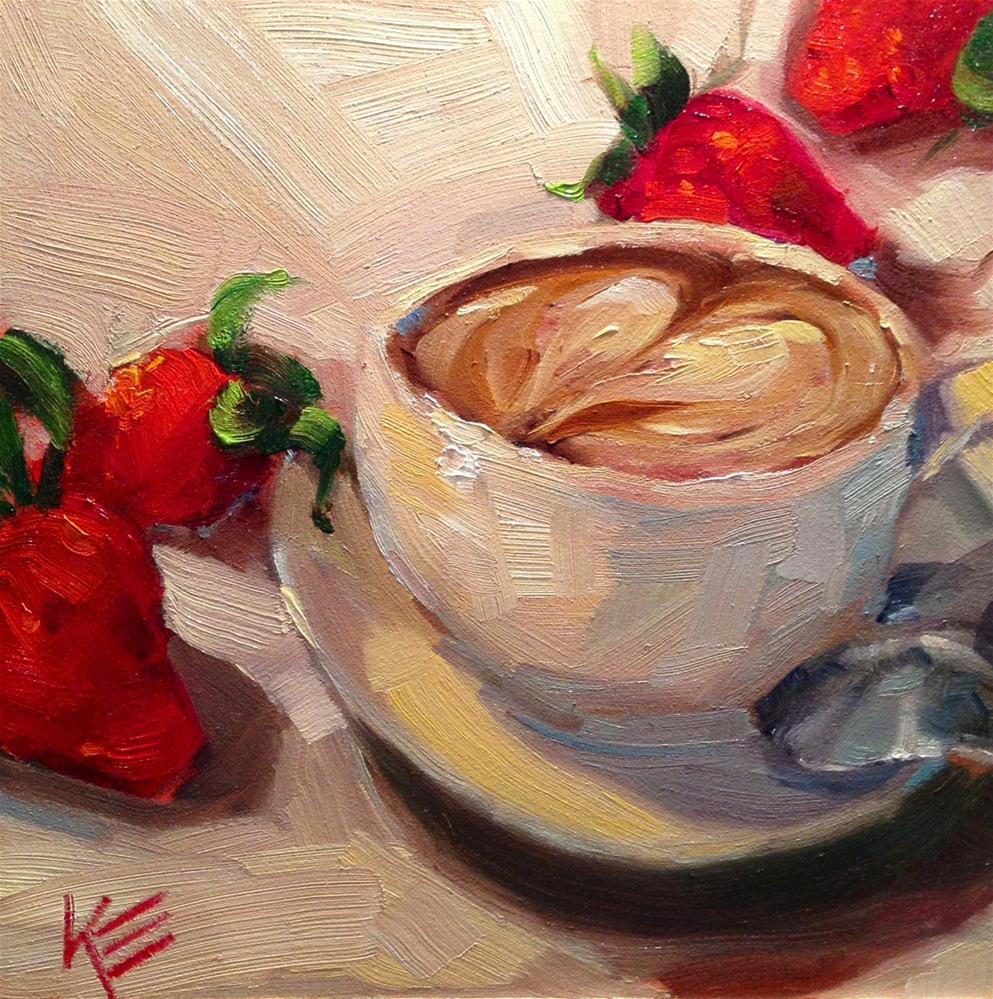 """A Latte Love"" original fine art by Krista Eaton"