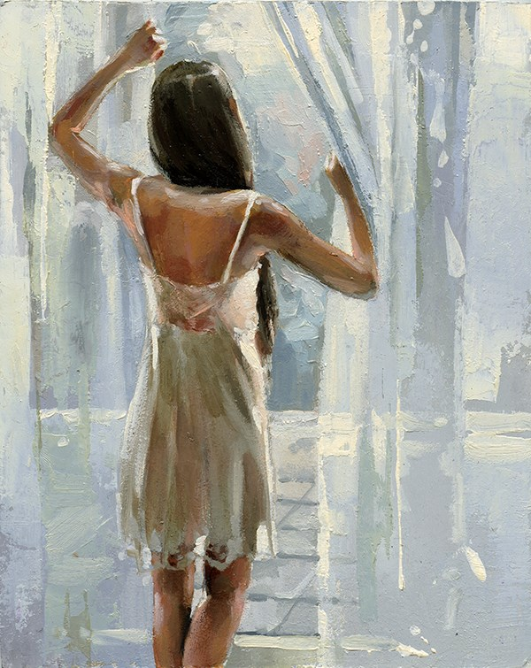 """Morning "" original fine art by Victor Bauer"