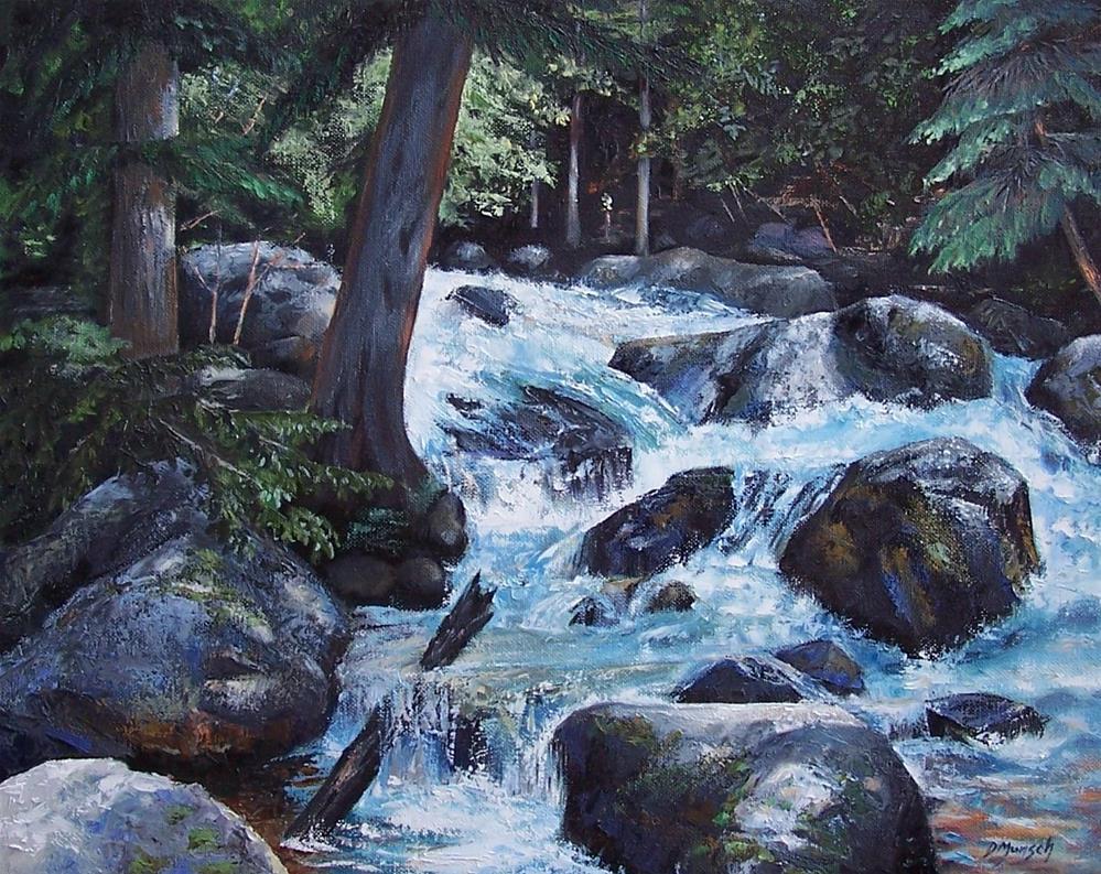 """""""Hidden Waterfall 2"""" original fine art by Donna Munsch"""