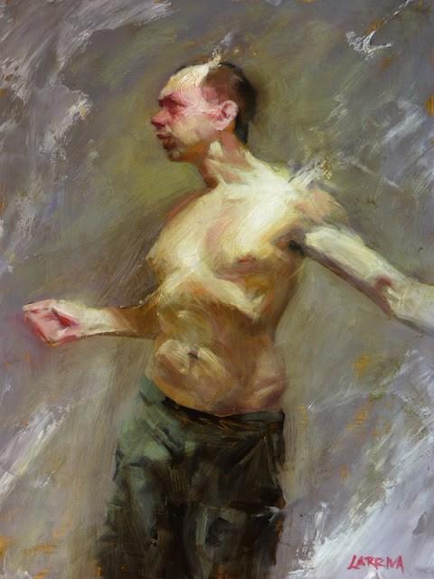 """Combusting Man"" original fine art by John Larriva"