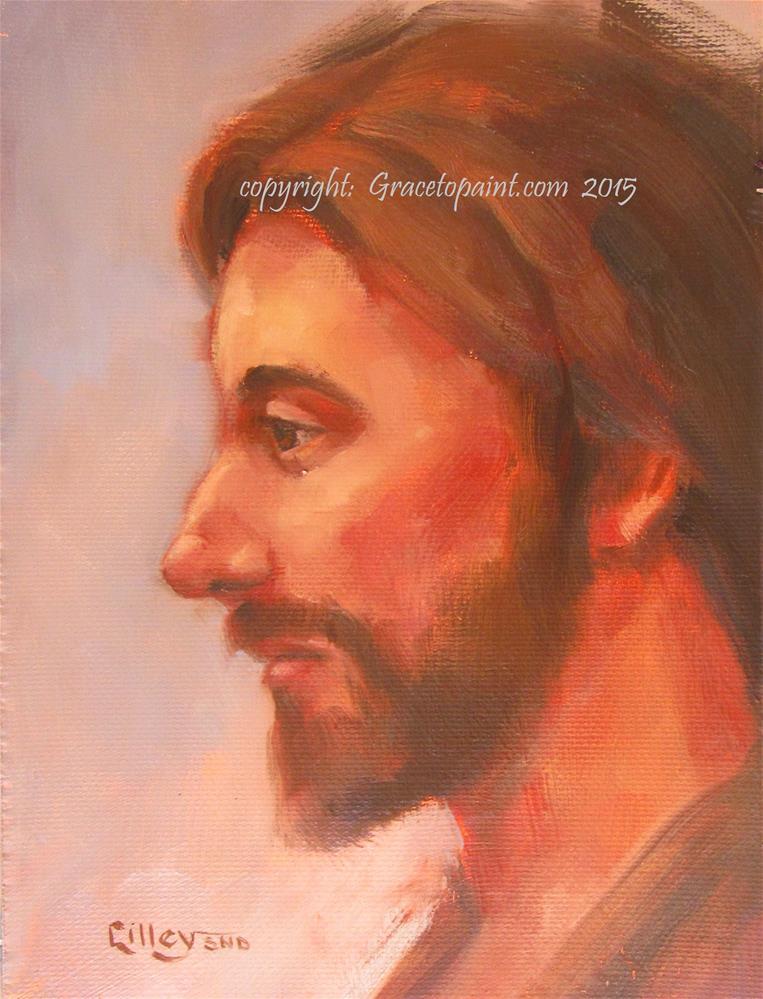"""""""Jesus """" original fine art by Maresa Lilley"""
