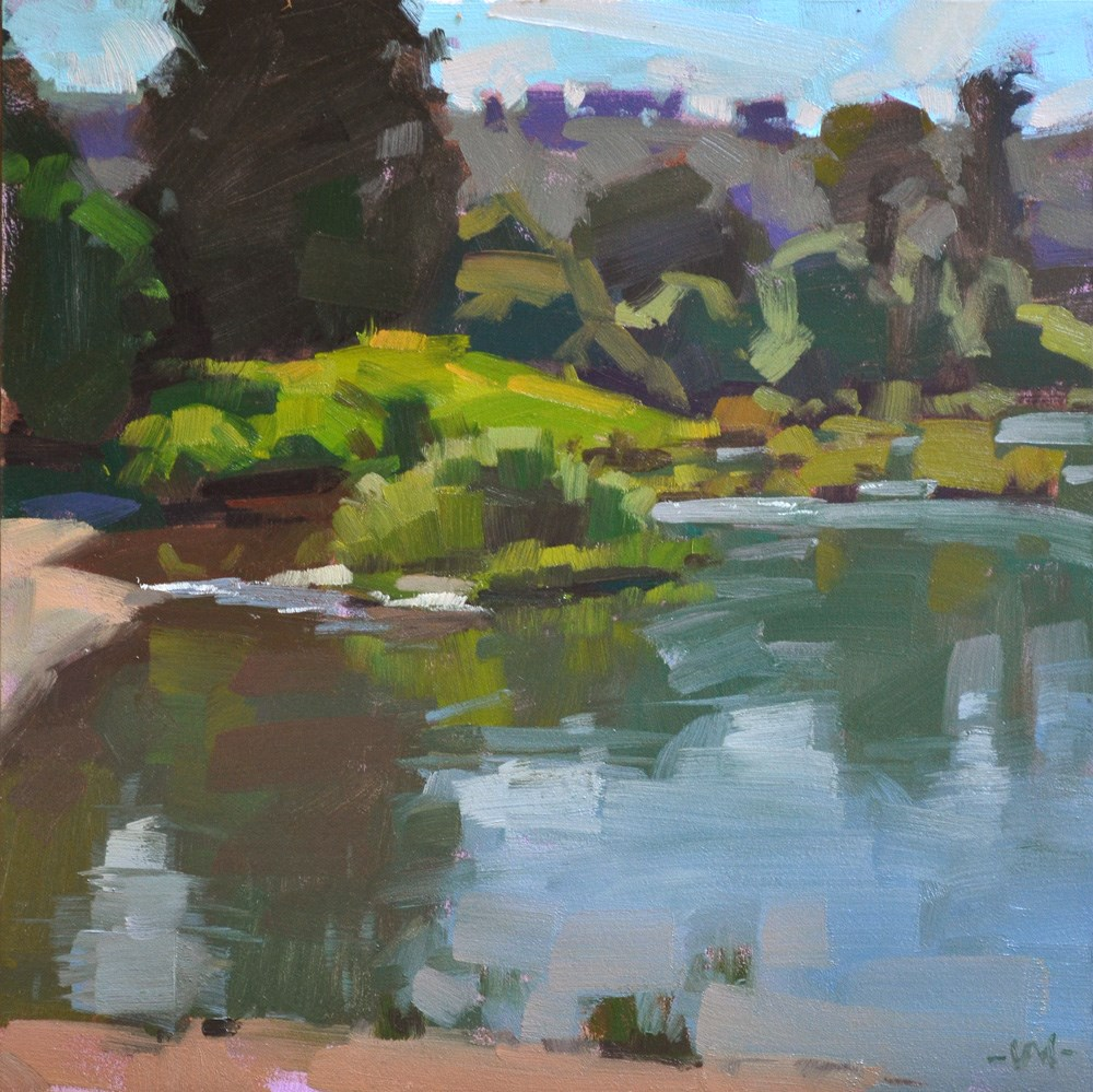 """Riverside"" original fine art by Carol Marine"