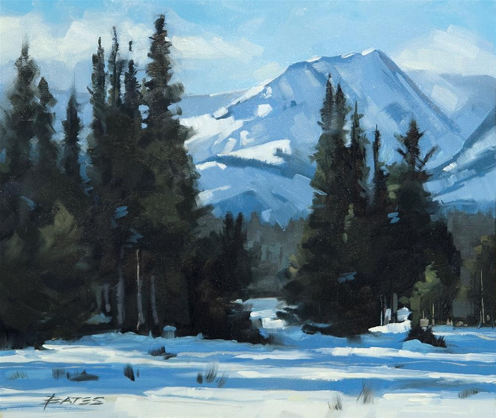 """Mt Sheridan Mosquito Range"" original fine art by David Bates"