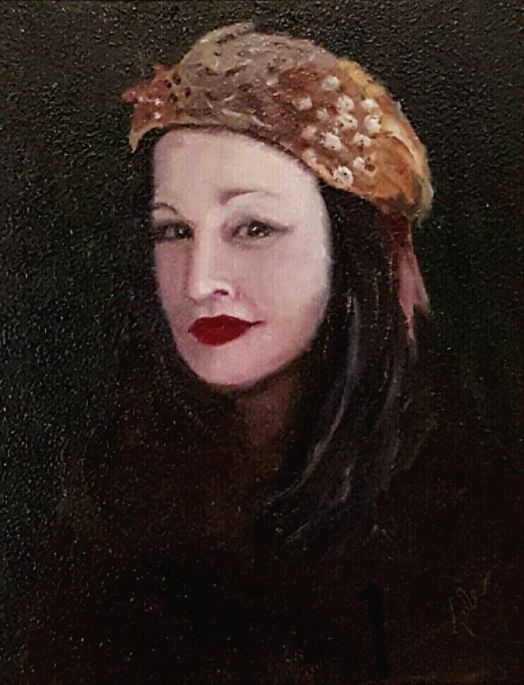 """The Feathered Hat"" original fine art by Karla Uphoff"