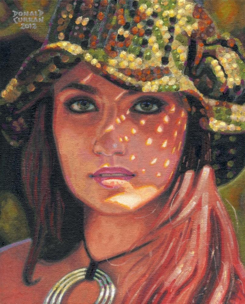 """""""Dappled Sunlight"""" original fine art by Donald Curran"""