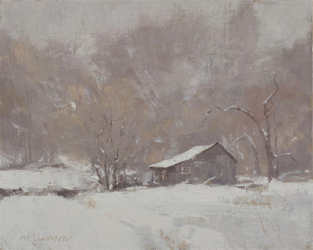 """2-9-4 Freezing Fog #4"" original fine art by Marc Hanson"