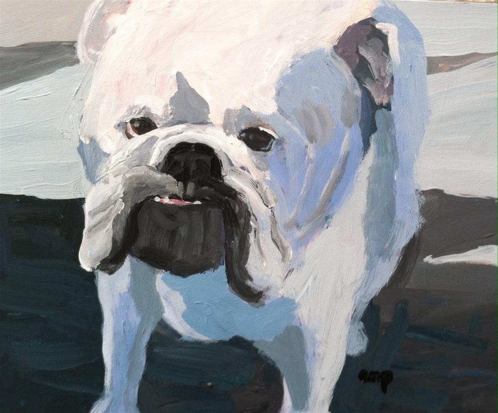"""Bulldog"" original fine art by Christine Parker"