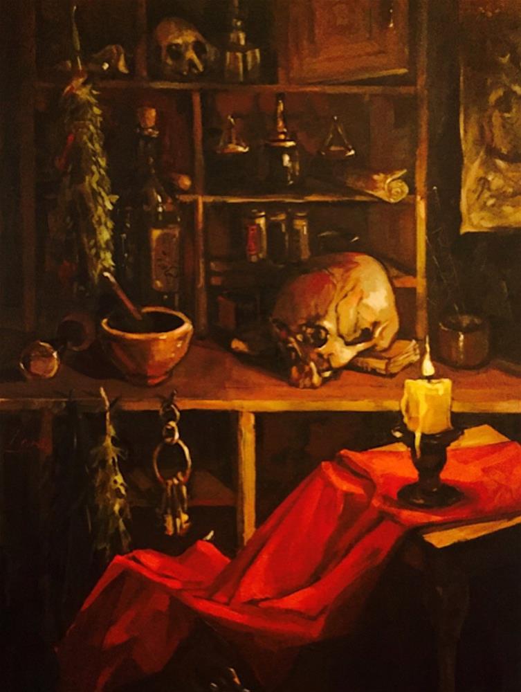 """Apothecary"" original fine art by Chris Long"
