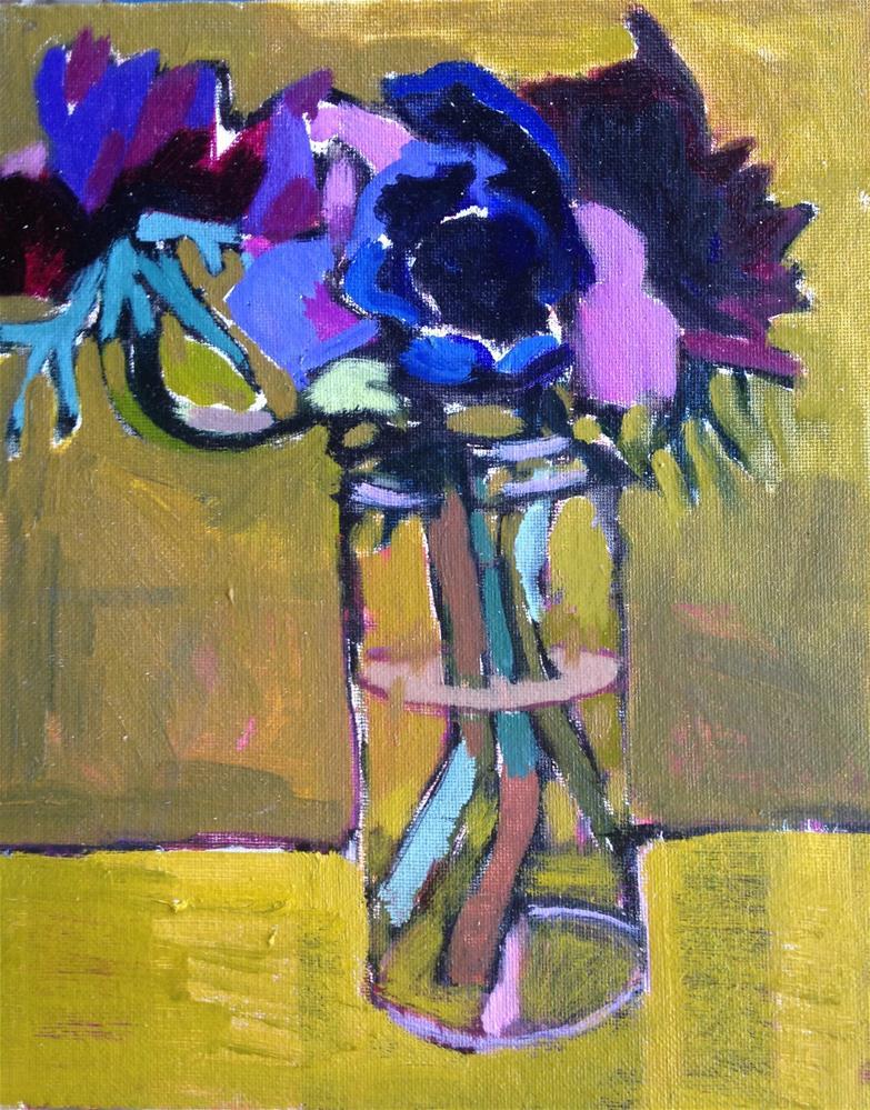"""Anemones"" original fine art by Pamela Hoffmeister"